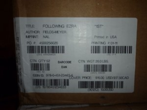 First shipment of FOLLOWING EZRA